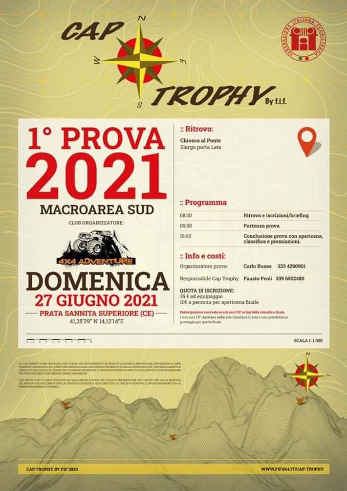Riparte La Cap Anche Nell'Area Sud. Organizzata Dal 4x4Adventure Domenica 27 A Prata Sannita (Ce). #CapTiAmo